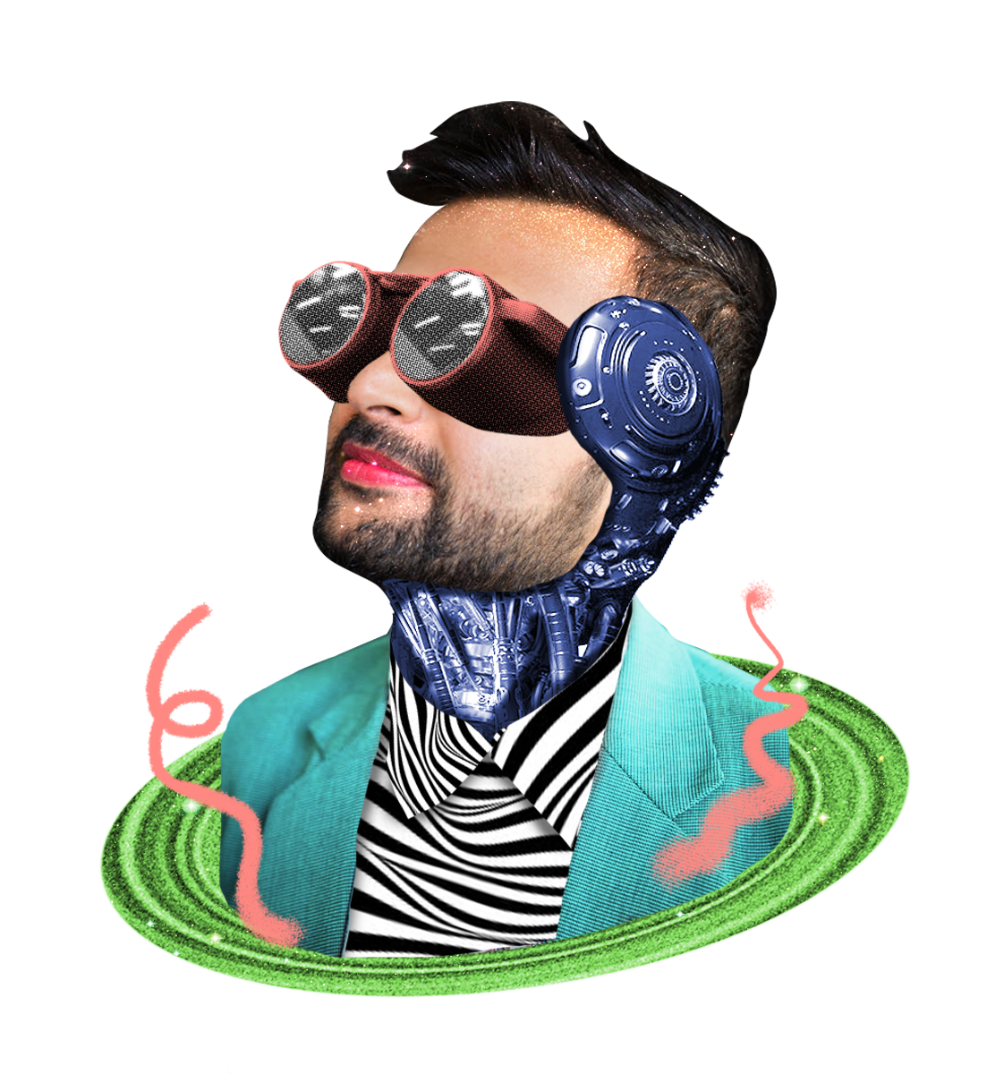 Augmented portrait of fahad punjwani