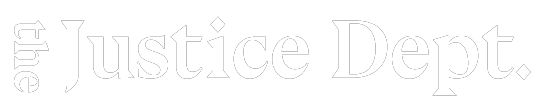 Logo: the Justice Dept.
